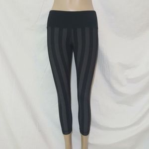 Lululemon Striped Wunder Under Crops Micro Macro